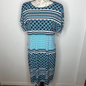 WHITE HOUSE BLACK MARKET Blue DRESS PULL OVER M